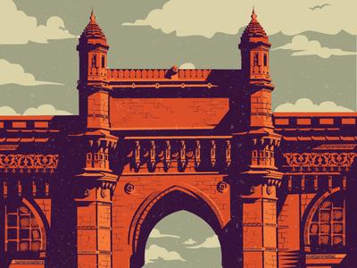 Gateway of India gateway of india mumbai illustration india maharastra