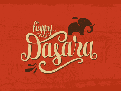 lets Celebrate dasara dussehra navaratri durga puja illustration india festival celebrations