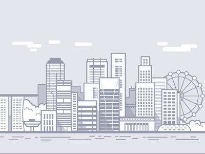 WIP - Singapore singapore vector line drawing minimal city illustration city scape skyline