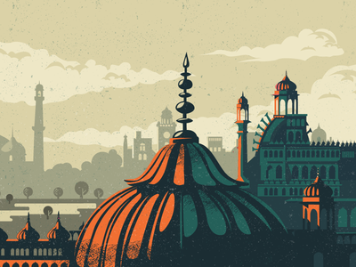 Old City - WIP location culture vintage heritage monument architecture wip lucknow north imambara india illustration