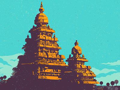Stay Strong vector india colourful heritage strength history mahabalipuram illustration chennai
