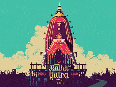 Ratha Yatra - Lisbon chariot krishna isckon lisboa lisbon ratha yatra yatra ratha