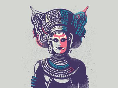 Theyyam - Folklore 03 illustration colourful story divine india kerala theyyam culture folk dance