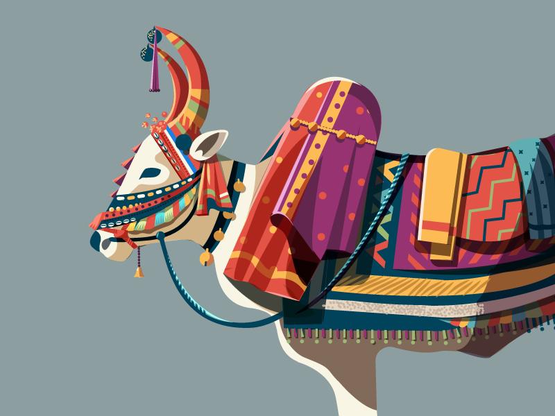 Decorative bull by ranganath krishnamani