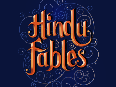Fables philosophy modern india hindu religion book classical typography custom type fables stories