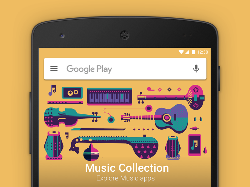 Google Play - Music collection mobile android camera diwali pattern symbols veena tabla violin tanpura india play