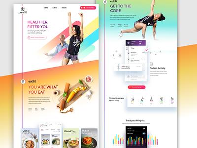 cure.fit - homepage app web meditation mindful fitness workout fit platform food mind health