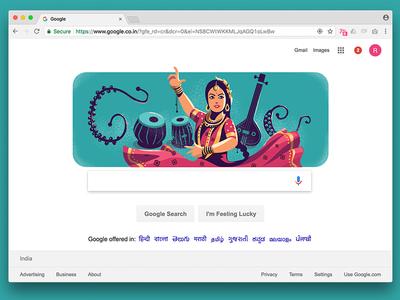 Doodle - Sitara Devi homepage google jingles tabla kathak dancer sitara devi india google doodle doodle