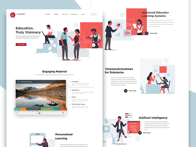 personalised learning illustration intelligence landing page landing singapore immersive personalised education learning