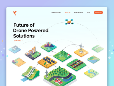 About - Drone Solutions connection data insights illustration decision analytics isometric solutions drone