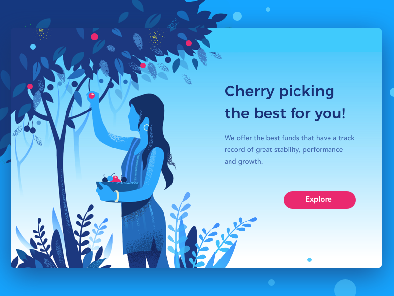 Cherry Picking custom cherry illustration insight wealthy growth money invest smart investment finance