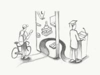Dribbble graduation sketch