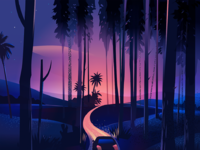 Dribbble roadtrip winding road detail