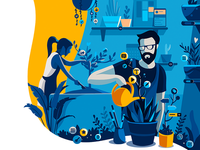 The Design Genome Project - Invision App invisionapp product illustration illustration ui elements gardern collaboration growth report design design system