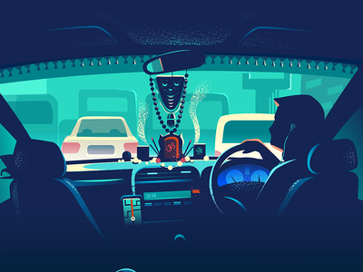 Sharing a Ride symbols choices design colorful ethnicity india taxi cab back seat ride drive sharing