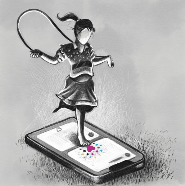 Dribbble skipping sketch