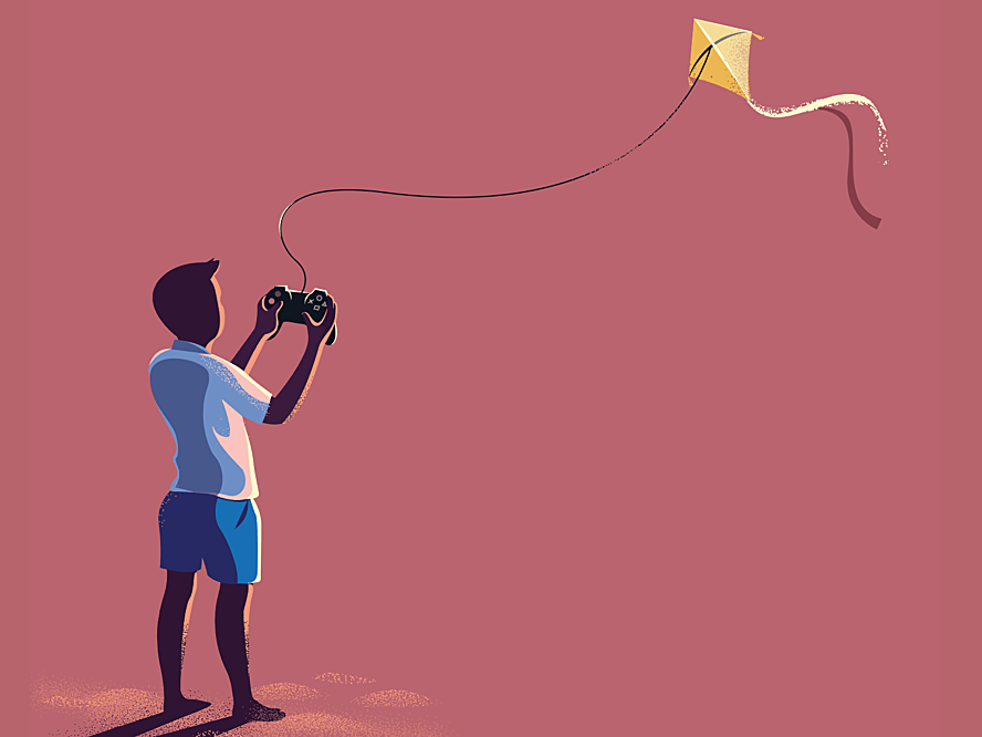 Dribbble flying kite