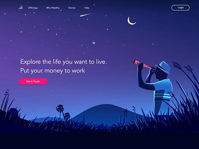 Financial future finance app illustration startup india product illustration sky future homepage finance business finance