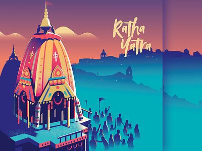 Ratha Yatra 2019 faith colorful skyline illustration city lisbon krishna india chariot yatra ratha