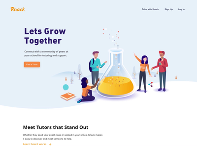 Knack - Homepage learn maths chemistry growth partner course connections peers learning community tutor student knack