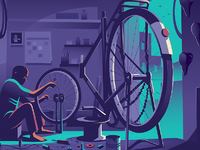 Dribbble cycle wide angle