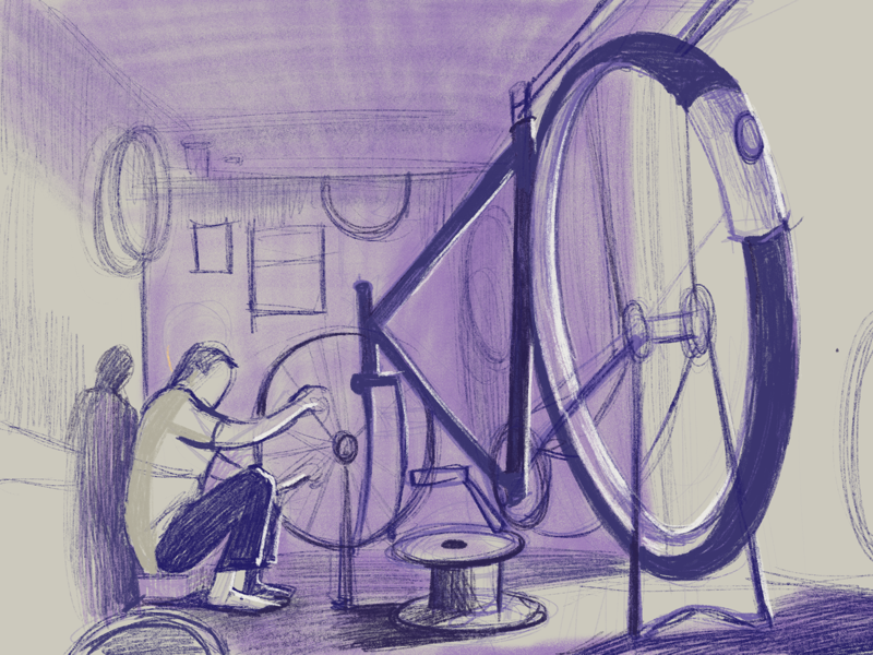 Dribbble bicycle sketch