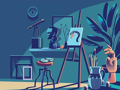 Creative Corner zone mood illustration mind mindset corner space abode home creative design art creative corner painting artist creative
