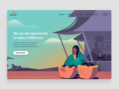 Making a difference storytelling illustration landing page web web experience youth technology startup difference women farmers market empower impact rural passion india ngo small business lending business