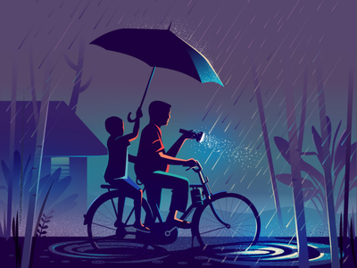 Way finding story colorful contrast team wayfinding india mangalore storm thunderstorm rain monsoon