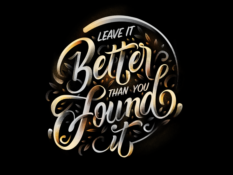 Better than you found it letters found handlettering lettering procreate procreate app digital brush lettering customtype beyond beyond self typography