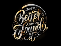 Better than you found it