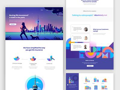 Big life decisions product illustration digital illustration digital web product design color palette pattern visual language story web design insurance
