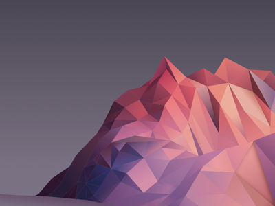 The Hills low poly mountain hills