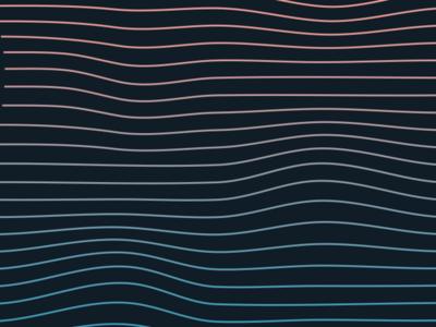 Waves calm clean simple gradient lines