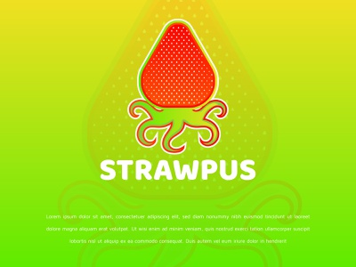 Strawpus Logo Design creative logo company logo logotype strawpus logo strawpus logo fruit logo animal logo octopus logo strawberry logo logo logos brand identity abstract logo brand design logo design modern logo logodesign gradient logo colorful logo branding