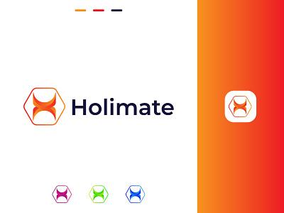 H Letter Holimate logo design h logo h modern logo h letter logos unique logos creative logos app logos app abstract logos brand identity logos logo illustration design brand design logo design modern logo gradient logo logodesign colorful logo branding