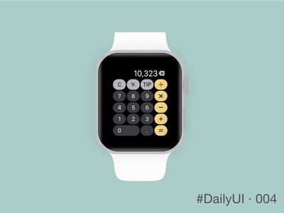 DailyUI 004 - Calculator flat uxui iwatch ux ui 004 dailyui