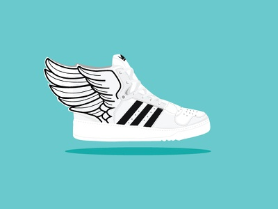 Adidas swings illustration shoes small icon graphic icon