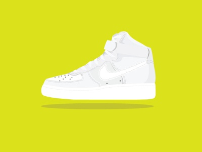Nike Air Force illustration shoes small icon graphic icon