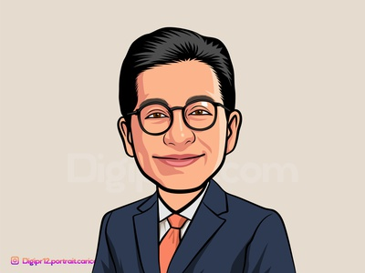 Portrait Caricature people design human avatar art vector illustration cartoon caricature portrait
