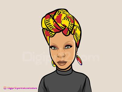 Portrait Caricature person people human avatar art vector illustration cartoon caricature portrait