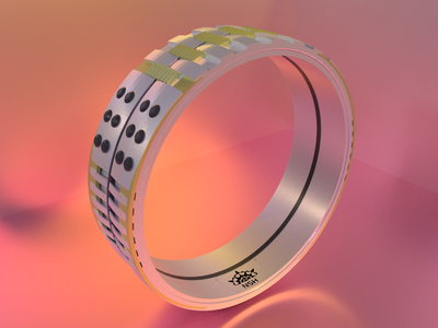 NSRing - No.03 product design blender3d ring jewelry