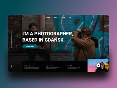 dribble shot 2x productdesign ux landingpage photographer photography poland background art adobexd ui design
