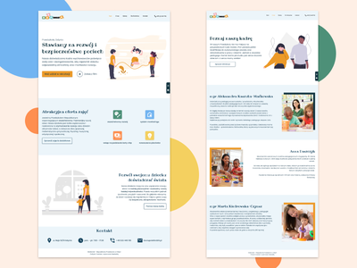 Kindergarten in Gdynia website figma ui design poland kindergarten kids