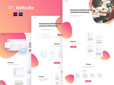 Business Landing page design ux  ui uiux ux design uidesign ui ux illustration landingpage design branding