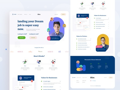 Job Search Landing Page web landingpage ux  ui ux design uiux uidesign ui design ux branding