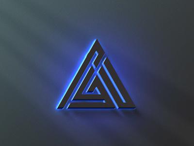 3D Logo Mockup Neon Effect ui uidesign vector illustration ux design uiux design ux motion graphics animation graphic design branding logo 3d
