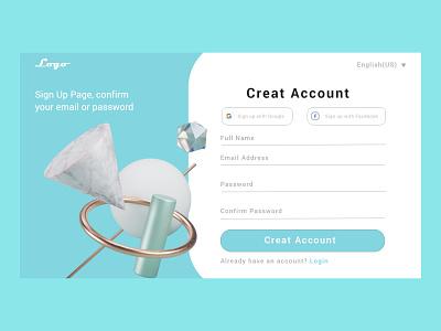 Sign Up Page logo vector ui illustration uiux ux design ux uidesign design branding
