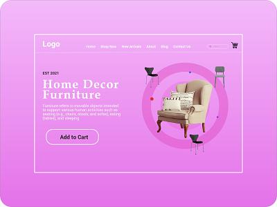 Furniture Landing Page logo vector illustration ux ux design uiux ui uidesign design branding