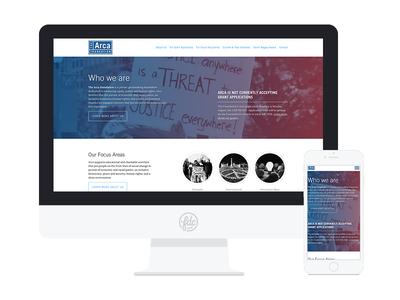 New Arca Foundation Site design ui ux web design graphic design